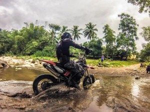 We have fun on all motorcycle tours riding scooters, supermotard and enduro machines